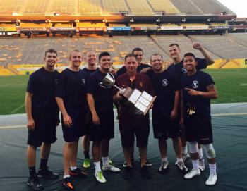 Air Force ROTC holds Dean's Cup from the 2016 flag-football tournament
