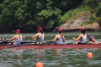 The rowing team in action