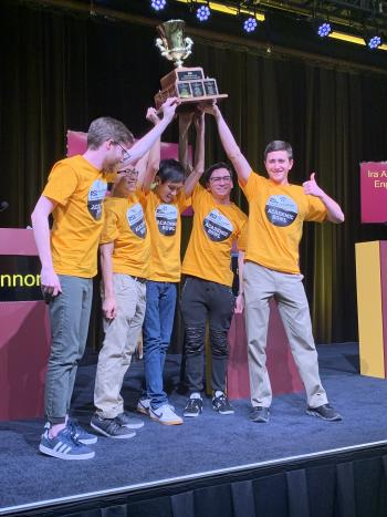 The annual trivia competition's final round took place Thursday evening at the Student Pavilion, where The College of Liberal Arts and Sciences Gold team won the $25,000 scholarship prize.