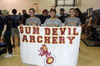 Sun Devil Archery team members