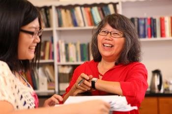 ASU education professor Michelene Chi with student