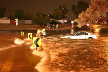 Flood water rescue, Scottsdale, Ariz.