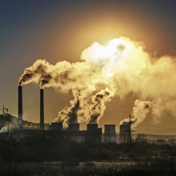 power plant smokestacks