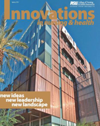 Cover of the spring issues of Innovations in Nursing & Health Magazine