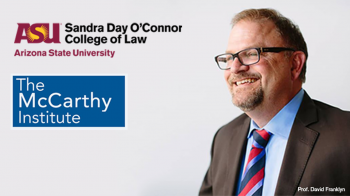 Photo of McCarthy Institute Executive Director David Franklyn at the Sandra Day O'Connor College of Law at ASU