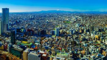 aerial photo of Tokyo cityscape