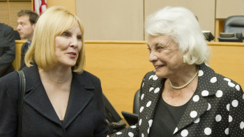 photo of Judge Silver and Justice OConnor