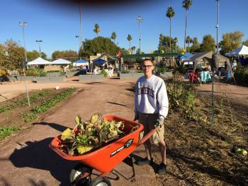 Justin Peterson at Escalante Community Garden