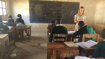 Kayla Kutter teaching