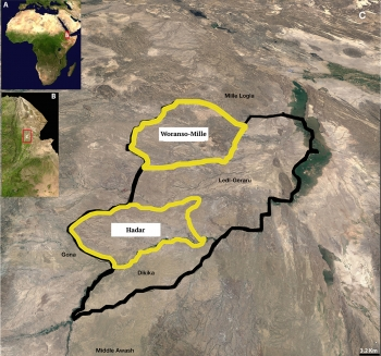 Map of Hadar and Woranso-Mille research sites