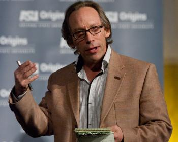 ASU Foundation Professor Lawrence Krauss talking at an Origins event