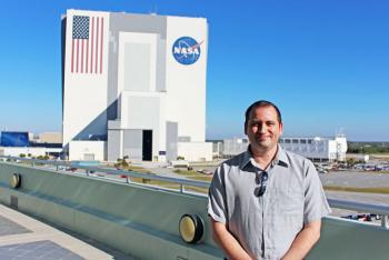 Kristopher Maham at NASA's Kennedy Space Center