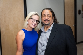 John Dreyfus with Kyrsten Sinema