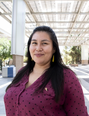 Laura Medina graduated with a master's degree in indigenous rights and social justice from the American Indian Studies program in The College of Liberal Arts and Sciences.