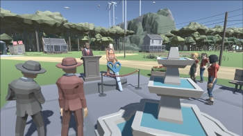 screenshot of a video game that teaches students about the energy industry