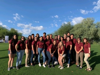 A group of ASU Los Diablos Alumni scholars