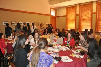 women gathered for luncheon at ASU's Old Main