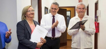 María Rita Plancarte Martínez was congratulated for being appointed by the University Board.