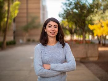 Marianna Kaneris, an Arizona State University senior and a double major in psychology