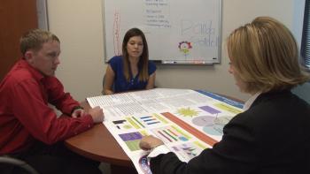 MCLEAPS interns Jerad McDaniel and Laura Gaona