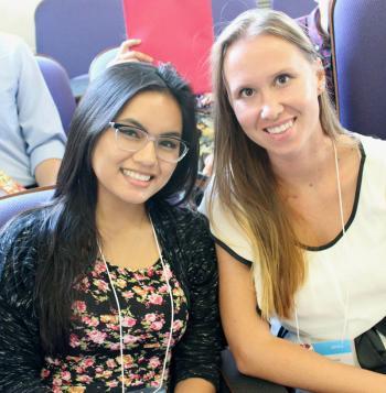 ASU students Megan Atencia Anna Simperova