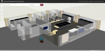 Computer illustration of ASU map hub