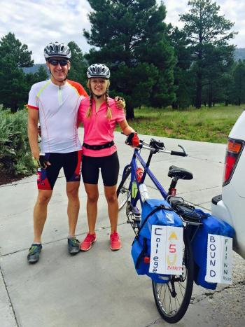 ASU freshman rode on a tandem bike with her dad from Flagstaff to the Valley.