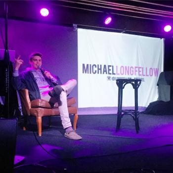 Michael Longfellow performs at a local venue.