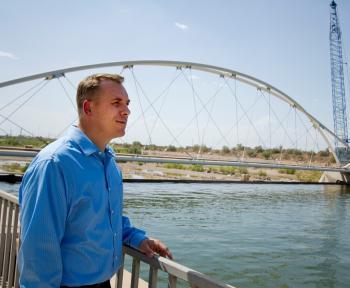 Engineer Michael Johnson at Tempe Town Lake