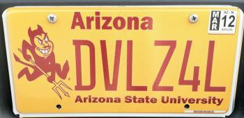 Michael McLendon's winning license plate