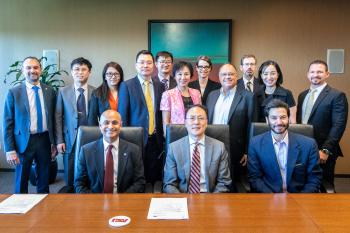 Delegates from the Ministry of Education of China and deans and administrators from ASU pose for a group picture before meeting on Saturday, May 25, 2019. The groups are looking at ways to broaden educational and research partnerships between the universi