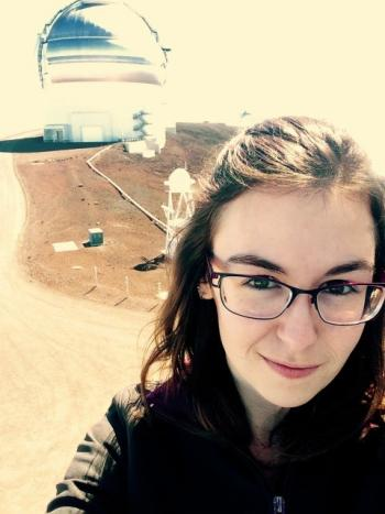 Miranda Herman at Gemini North Observatory at Mauna Kea, Hawaii
