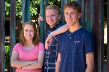 Moen triplets at Barrett Honors College at ASU West