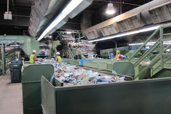 The Phoenix MRF recycled paper collection line will help provide feedstock to RISN Incubator participants.