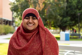 Laraib Mughal won the Dean's Medal for the School of Politics and Global Studies in fall 2016