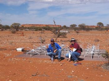 ASU students at Murchison Widefield Array radio telescope