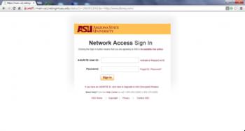 "Desktop view of ""asu"" WiFi registration screen"