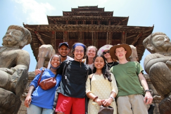 ASU students on a faculty-directed program to Nepal