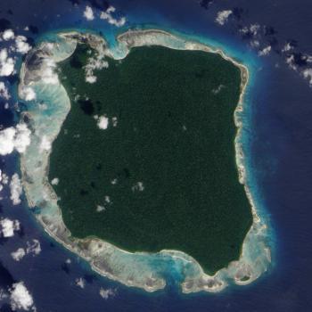 satellite photo of North Sentinel Island