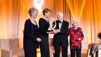 President Jimmy Carter receives the OConnor Justice Prize from ASU Law