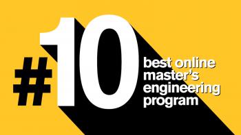 #10 best online master's engineering program