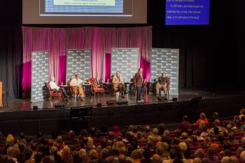 science panel on stage at ASU Gammage
