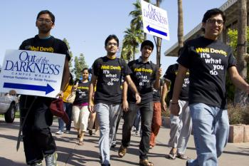 ASU students walking for suicide prevention