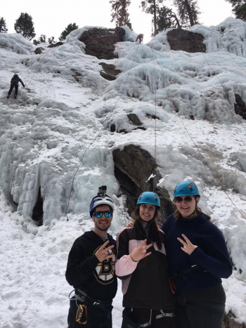 Paradox Sports ice climbing event in Ouray, Colorado