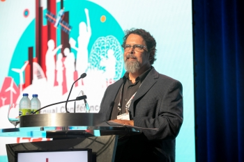 Research Professor Paul Martin giving remarks at the ASTC Annual Conference
