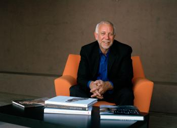 portrait of Peter Held, curator of ceramics for ASU Art Museum