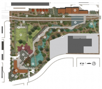 Site plan of Phoenix Union Park.