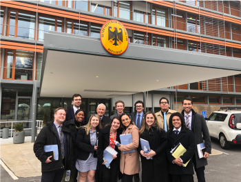 Policy Design Studio students at Embassy of the Federal Republic of Germany