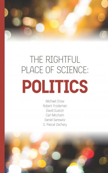 Cover of book, Politics, in The Rightful Place of Science series
