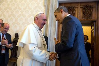Pope Francis and President Barack Obama